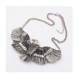 VINTAGE PERSONALITY EAGLE STATEMENT NECKLACE