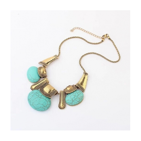 TURQUOISE TOPHUS STATEMENT NECKLACE