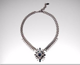 Shourouk Alloy Colour Crystal (paw inlaid glass) Statement Necklace Pendant