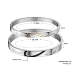 STAINLESS STEEL REAL LOVE COUPLE'S BRACELET