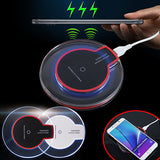 Clear QI Wireless fast Charger Pad+Receiver for Samsung Galaxy iPhone 7 6 6s 5 5s