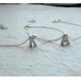 Sterling Silver Initials Two Personalized Bracelets