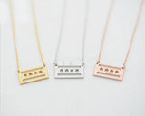 Modern Chic Gold Plated Chicago Flag Necklace