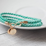 Gold Plated Personalized Infinity Turquoise Bracelet