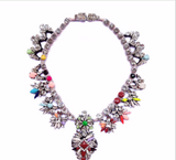 Luxury crsytal choker collar bib statement Necklace