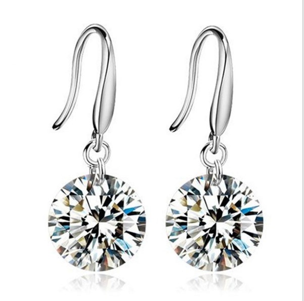 Naked Drill Crystal Drop Earrings