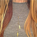 Gold Plated Custom Charm Leaf Pendant Necklace