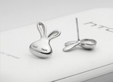 Cute Tiny Rabbit Silver Stud Earrings
