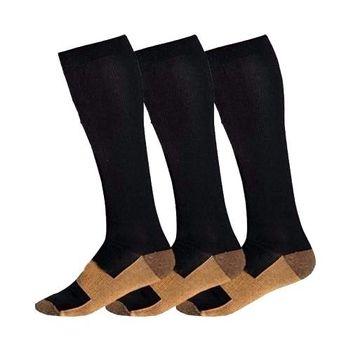 3 pairs Miracle Copper Anti Fatigue Compression Socks