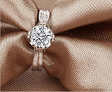 Beautiful Platinum Plated Cubic Zirconia Ring