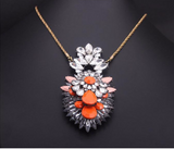 Luxury JCW choker collar fashion (acrylic) flower small crystal pendant necklace