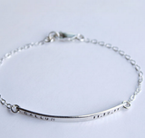 Personalized Sterling Silver Name Bar Charm Bracelet