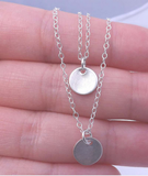 Silver Plated Coins Charm Pendant Necklace