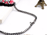 chunky rope choker statement  bib necklace pendant