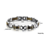STAINLESS STEEL MEN'S FASHION GOLD AND SILVER BRACELET