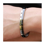 STAINLESS STEEL BE TRUE TO ONE'S WORLD COUPLE'S BRACELET