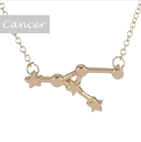 Cancer Zodiac Sign Astrology Star Sign Constellation Necklace