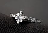 Princess Cut 925 Sterling Silver 3.00 CTTW CZ Diamond Ring