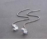 Naked Crystal Thread Earrings