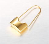 24K GOLD PLATED STAINLESS STEEL LOCK EARRINGS