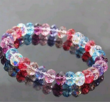 Fashion Crystal Faceted Loose Beads Elastic Bracelet