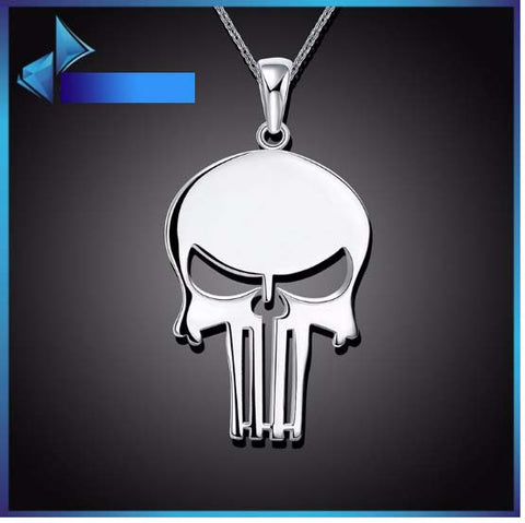 Two Unisex Stainless Steel Skull Necklaces