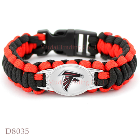 Atlanta Falcons Paracord Survival Unisex bracelet