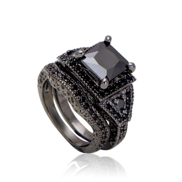 black gold filled and platinum plated cz ring sets malala jewelry