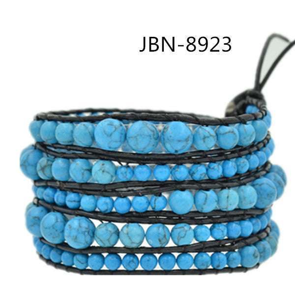 BLUE TURQUOISE ON NATURAL BLACK