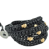 4MM BLACK AND GOLD SKULL ON DARK