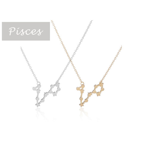 Pisces Zodiac Sign Astrology Star Sign Constellation Necklace