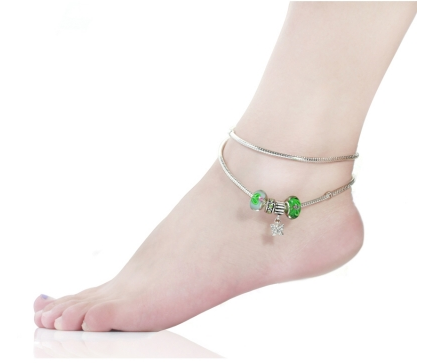 ankle silver ebay charm chain foot s bracelet anklet p dangle flower sterling sweet