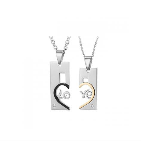 LOVE HEART COUPLE'S NECKLACE
