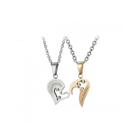 CRYSTAL LOVE DEVOTION COUPLE'S NECKLACE