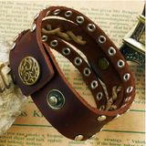 GENUINE LEATHER BUCKLE MEN'S LEATHER BRACELET