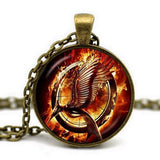 Handmade Dragon Glass Cabochon Pendant Necklace