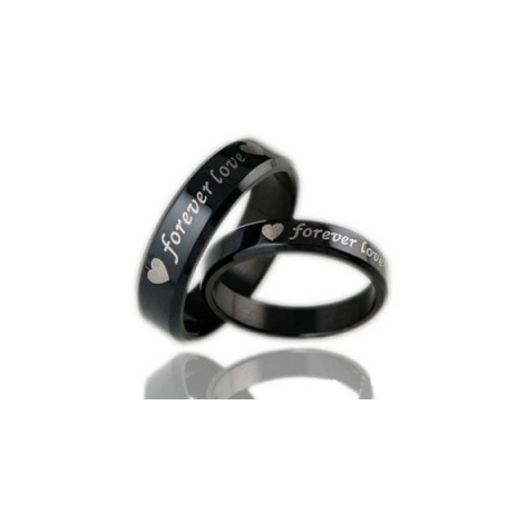 BLACK FOREVER LOVE COUPLE'S RING