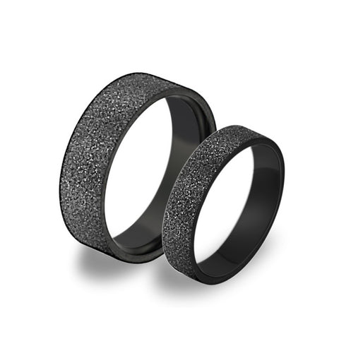 DARK GRAY COUPLE'S LOVE RING