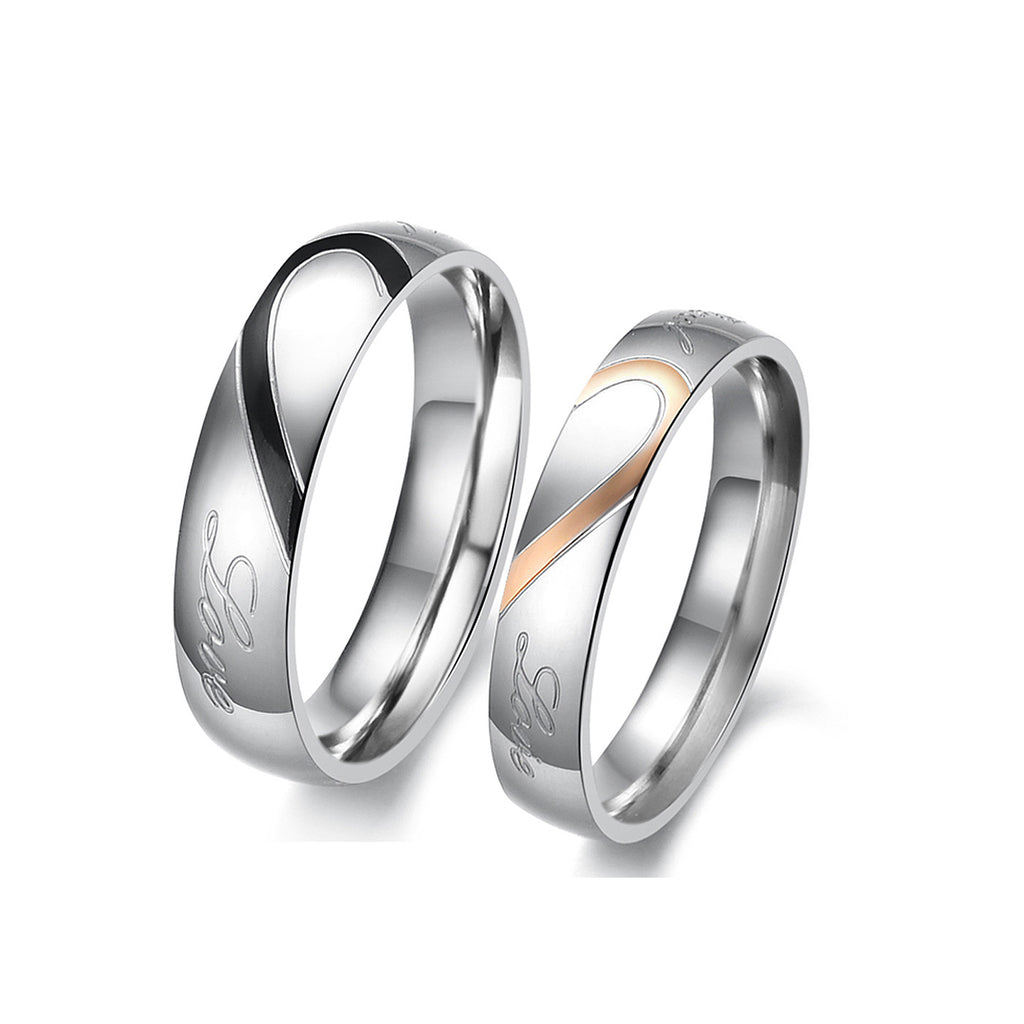 SILVER LOVE COUPLE'S RING