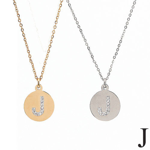 2pcs Silver and Gold Stainless Steel Initial Necklaces