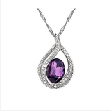 SILVER PLATED CRYSTAL NECKLACE PENDANT