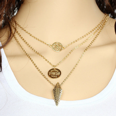 Gold Plated Butterfly Coin Arrow Pendant Necklace