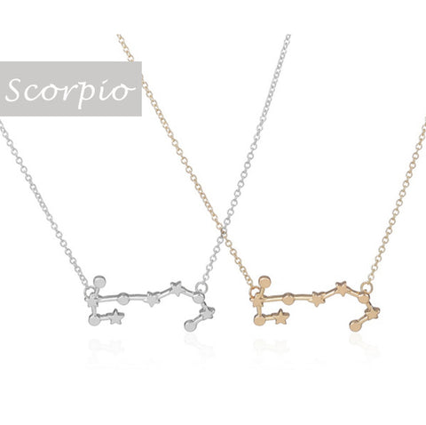 Scorpio Zodiac Sign Astrology Star Sign Constellation Necklace