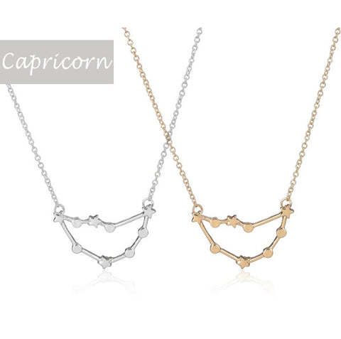 Capricorn Zodiac Sign Astrology Star Sign Constellation Necklace