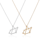 Sagittarius Zodiac Sign Astrology Star Sign Constellation Necklace