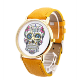 Ladies Sugar Skull Tattoo Watch