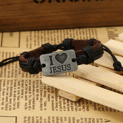 I love Jesus Fashion Christian Bracelets For Men Women