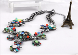 Vintage Style shourouk crystal Luxury Necklace