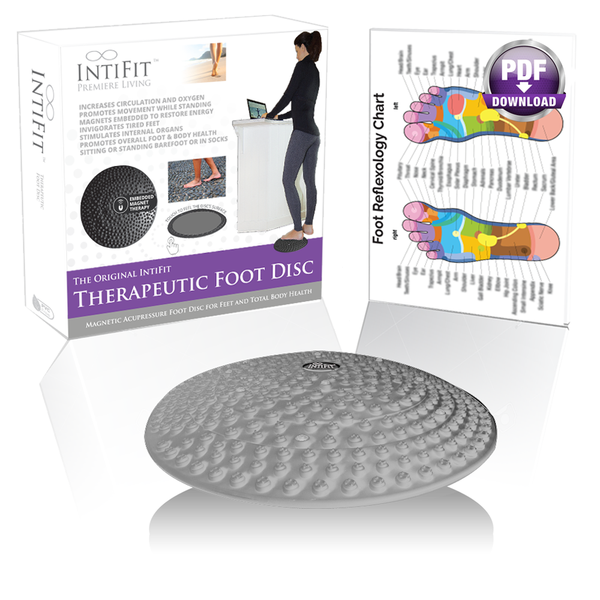 IntiFit Original Therapeutic Foot Disc - Magnetic Acupressure Foot Disc for Total Body Health