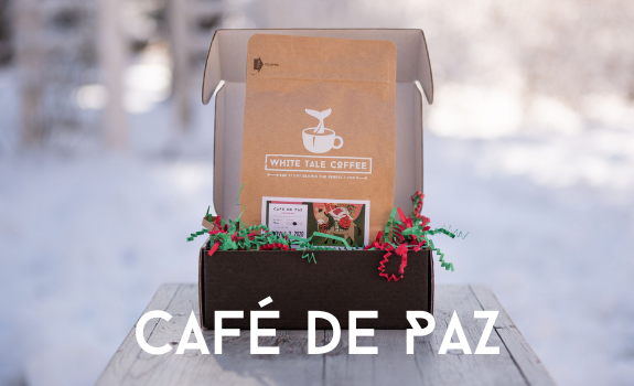Open box of Cafe de Paz